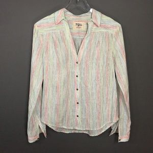 Holding Horses Anthropologie Pastel Button Shirt